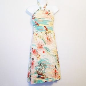 Tommy Bahama | Hawaiian Floral Halter Dress M